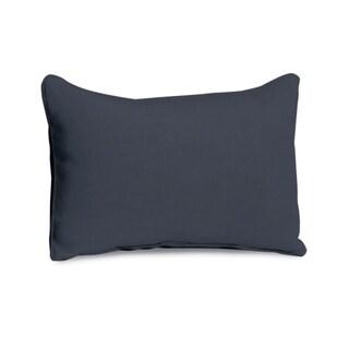 Oxford Garden Lumbar Midnight Blue Polyester Pillow