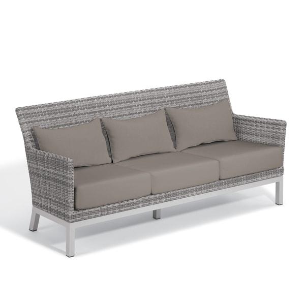 shop oxford garden argento resin wicker sofa with powder coated rh overstock com black resin wicker sofa white resin wicker sofa