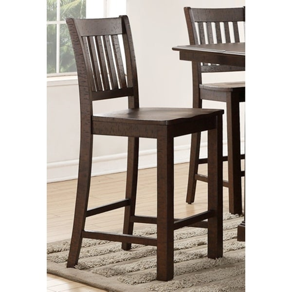 Beau San Juan Aged Espresso Counter Height Chairs (Set Of 2)