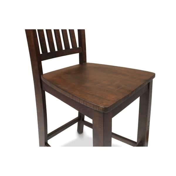 Pleasing Shop San Juan Aged Espresso Counter Height Chairs Set Of 2 Creativecarmelina Interior Chair Design Creativecarmelinacom