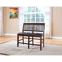 Kaylee Tudor Brown Counter Height Bench