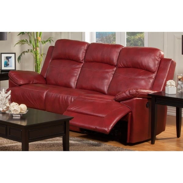 Shop Cortez Red Power Motion Dual Recliner Sofa - Free ...