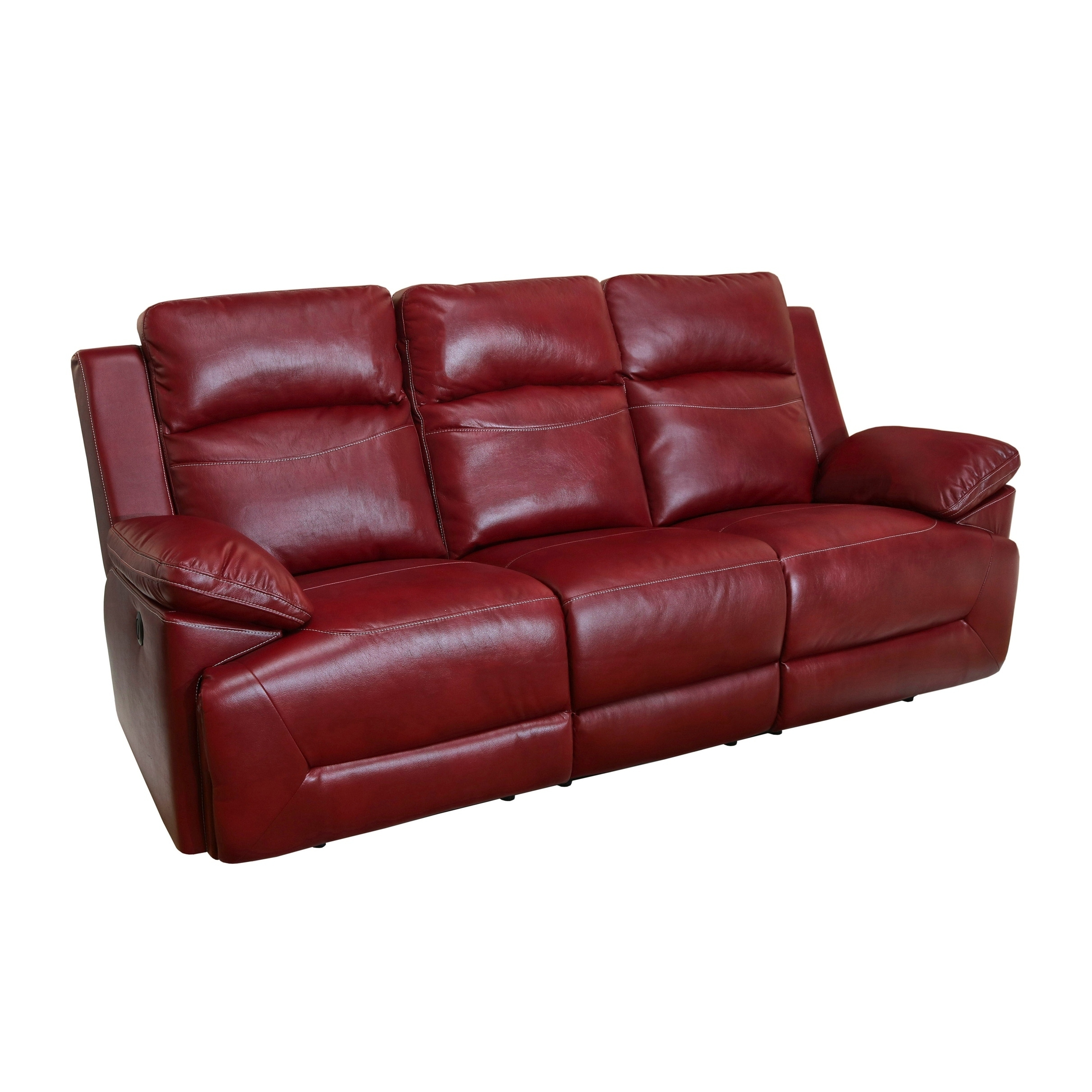 Cortez Red Power Motion Dual Recliner Sofa