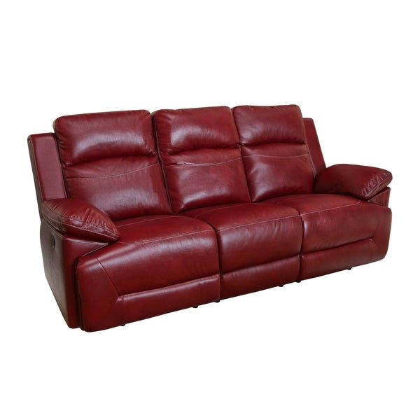 Shop Cortez Red Power Motion Dual Recliner Sofa - Free Shipping ...