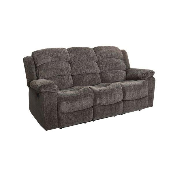 Cheap Recliner Sofas For Sale Triple Reclining Sofa Fabric: Shop Austin Stone Dual Recliner Sofa