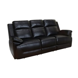 Cortez Black Power Motion Dual Recliner Sofa