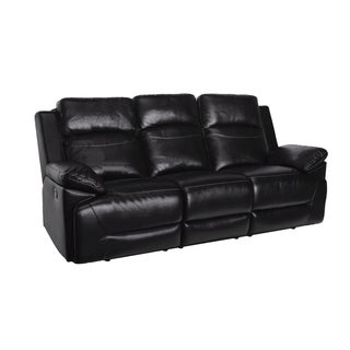 Cortez Black Dual Recliner Sofa