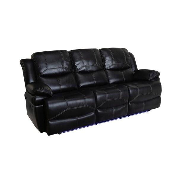 Flynn Premier Black Power Motion Dual Recliner Sofa