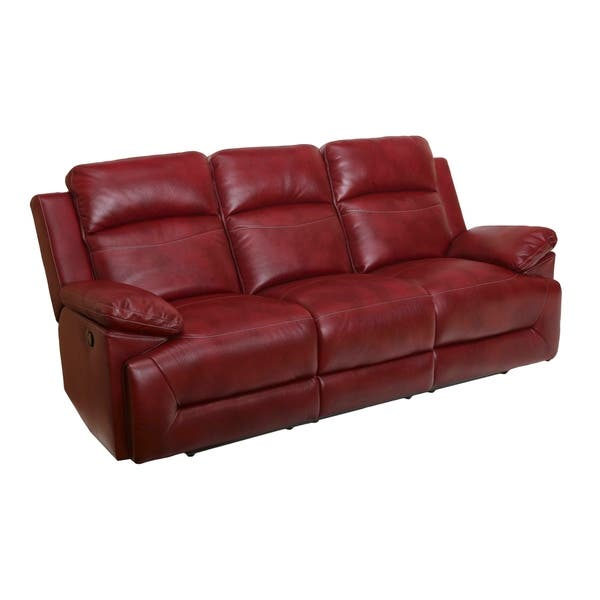 Shop Cortez Red Dual Reclining Sofa - On Sale - Free ...