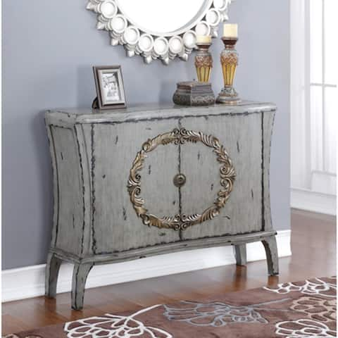 Diana Antique Grey with Gold Account Console Table