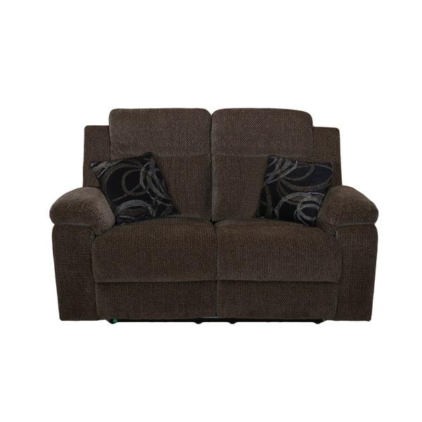 Wondrous Shop Burke Mystery Ebony Power Dual Recliner Loveseat Free Cjindustries Chair Design For Home Cjindustriesco
