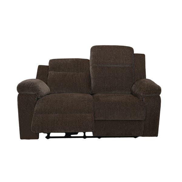 Fabulous Shop Burke Mystery Ebony Power Dual Recliner Loveseat Free Cjindustries Chair Design For Home Cjindustriesco