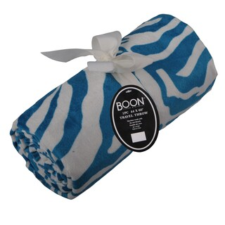 "BOON Throw Blanket Printed Microplush Nature Kid Friendly Nap Throw - 44"" x 60"""