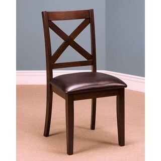 Latitudes Chestnut X-back Side Chairs (Set of 2)
