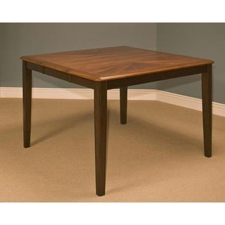 Latitudes Ginger and Chestnut Round Corner Counter Table