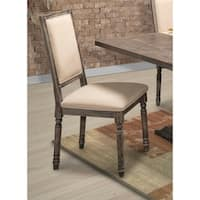 Muses Grey Upholstered Side Chairs (Set of 2)