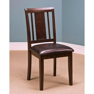 Latitudes Chestnut Vertical Panel Back Side Chairs (Set of 2)