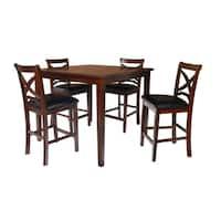 Milo Espresso 5-piece Counter Table Dining Set