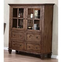 Sutton Manor Distressed Oak China Cabinet