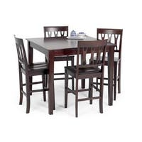 Abbie Bordeaux Square Counter Height Dining Table