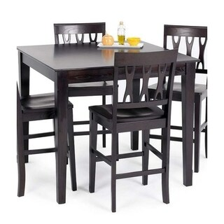 Abbie Espresso Square Counter Height Dining Table