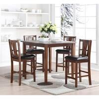 Dixon Dark Espresso Counter Table 5-piece Dining Set