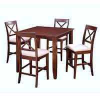 Crosswinds Suede Square Counter Height Dining Table