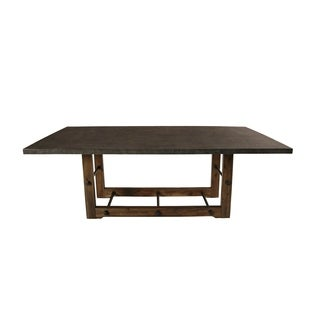 Canton Walnut and Grey Concrete Top Dining Table