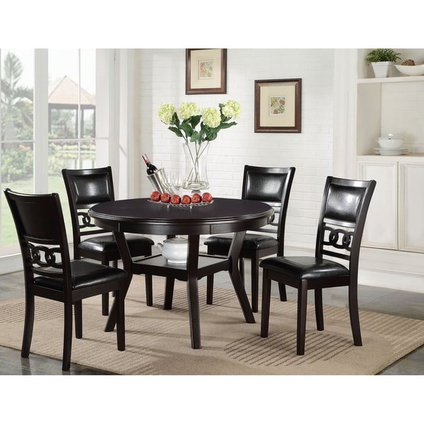 Ultimate Accents Urban 7 Piece Dining Set Reviews: Shop Gia Ebony Standard Height Round Table 5-piece Dining