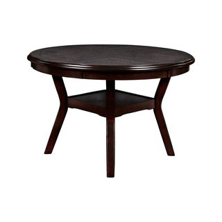 Gia Ebony Standard Height Round Table 5-piece Dining Set