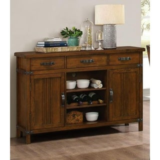 Buchanan Brown Mahogany Mission Buffets Server