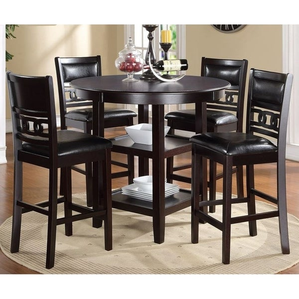 Shop Gia Ebony Counter Height Round Table 5 Piece Dining