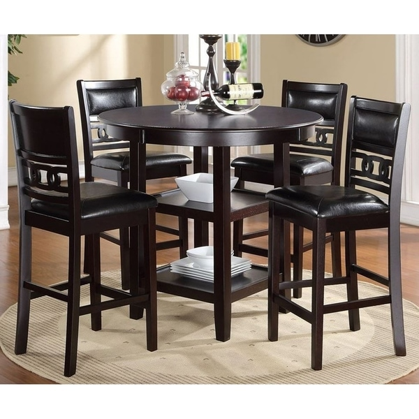 Counter Height Dining Sets On Sale: Shop Gia Ebony Counter Height Round Table 5-piece Dining