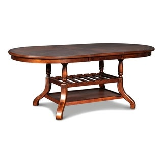 Bixby Espresso Oval Dining Table