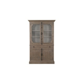 Trinity Traditional Driftwood Curio China Cabinet