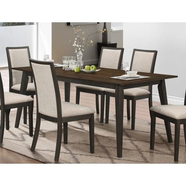 Studio 26 Two Tone Antique Oak And Black Dining Table Free Shipping Today 20222821