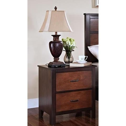 Bishop Chestnut and Ginger 2-drawer Nightstand