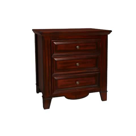 Drayton Hall Bordeaux 3-drawer Nightstand