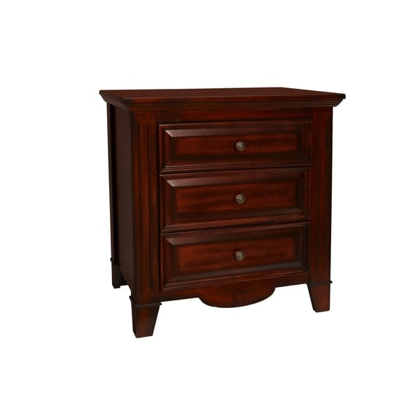 Drayton Hall Bordeaux 3-drawer Nightstand
