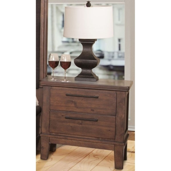 Cagney Chestnut 2-drawer Nightstand