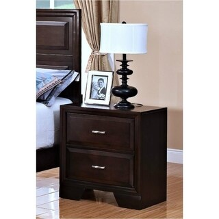 Garrett Chestnut Hardwood Solid 2-drawer Nightstand