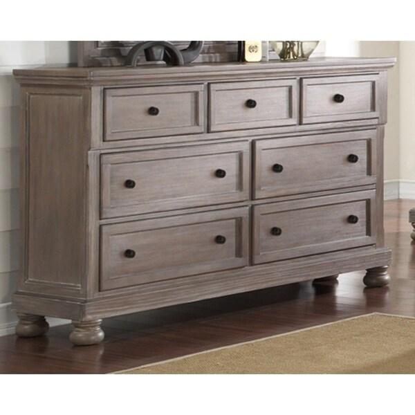 Allegra Brushed Pewter 7 Drawer Dresser