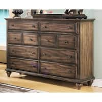 Fallbrook Weathered Brown 8-drawer Dresser