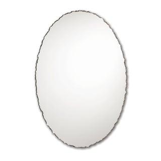 Chiseled Edge Frameless Wall Mirror - Silver
