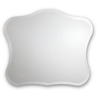 Frameless Royal-Style Beveled Wall Mirror - Silver