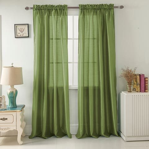 Porch & Den Eads 84-inch Rod Pocket Curtain Panel