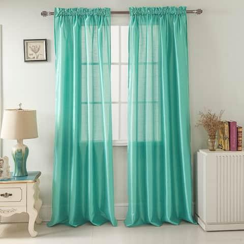 Porch & Den Eads 84-inch Rod Pocket Curtain Panel