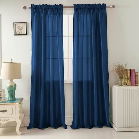 Porch & Den Eads 95-inch Rod Pocket Curtain Panel