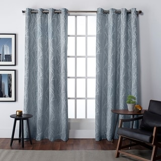 Link to Copper Grove Bouvardia Finesse Faux Linen Grommet Top Curtain Panel Pair Similar Items in Curtains & Drapes