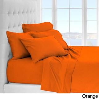 Clay Alder Home Lost Luxury Premium 1800 Series Ultra-Soft Collection Sheet Set - Deep Pocket (Option: Twin Xl - Orange)